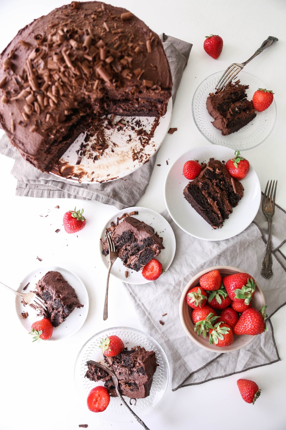 Vegan Chocolate Cake with Whipped Ganache | Wife Mama Foodie