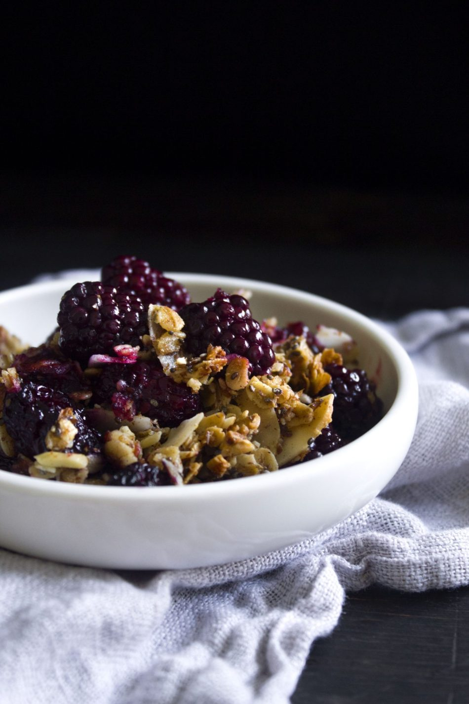 Berry Breakfast Crisp | Free of dairy, gluten, and refined sugar.