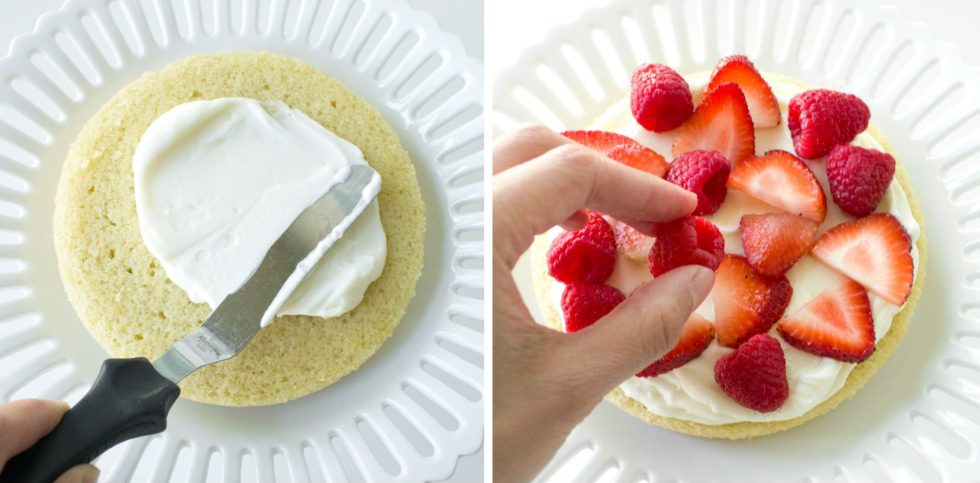 Gluten-Free White Chocolate & Summer Berry Cake