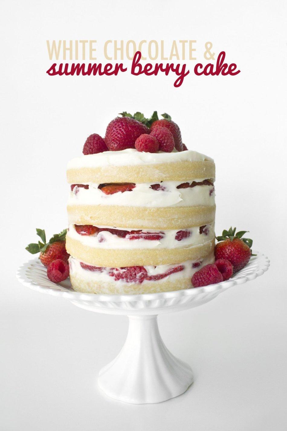 White Chocolate & Summer Berry Cake