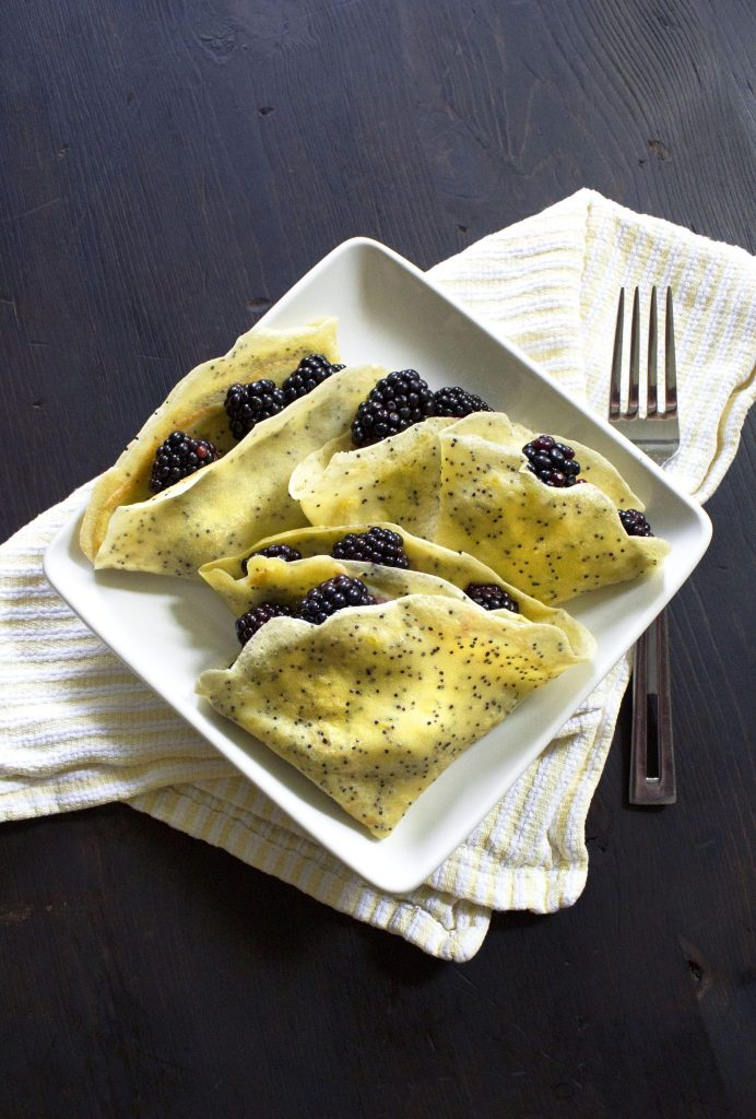 Lemon Poppy Seed Crepes | Gluten-Free variation included.