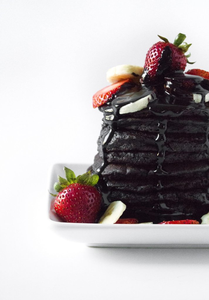 Chocolate Zucchini Pancakes | Made with wholesome ingredients. Gluten, dairy, and egg free