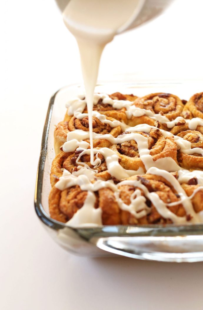 15 Must-Try Healthy Pumpkin Recipes To Celebrate Fall   Pumpkin Cinnamon Rolls from Minimalist Baker