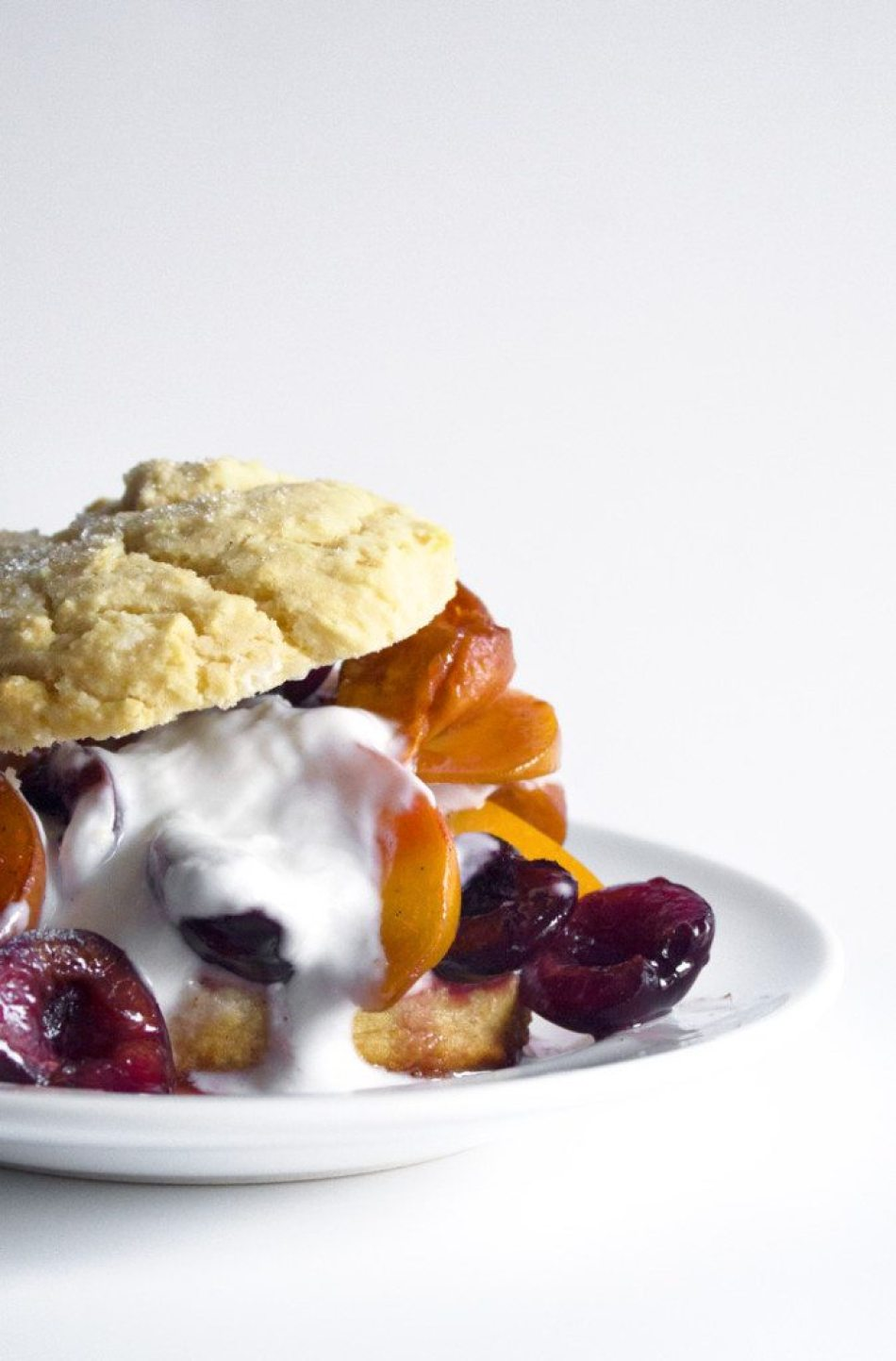 Honey Scones With Vanilla Roasted Stone Fruit   Grain, gluten and dairy free options also included!