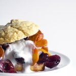 Honey Scones With Vanilla Roasted Stone Fruit