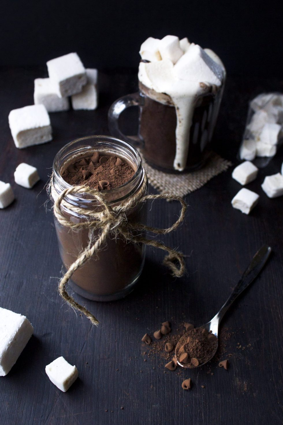 Dairy-Free Hot Cocoa Mix In a Jar | Uses coconut sugar and dark cocoa. Vegan friendly!