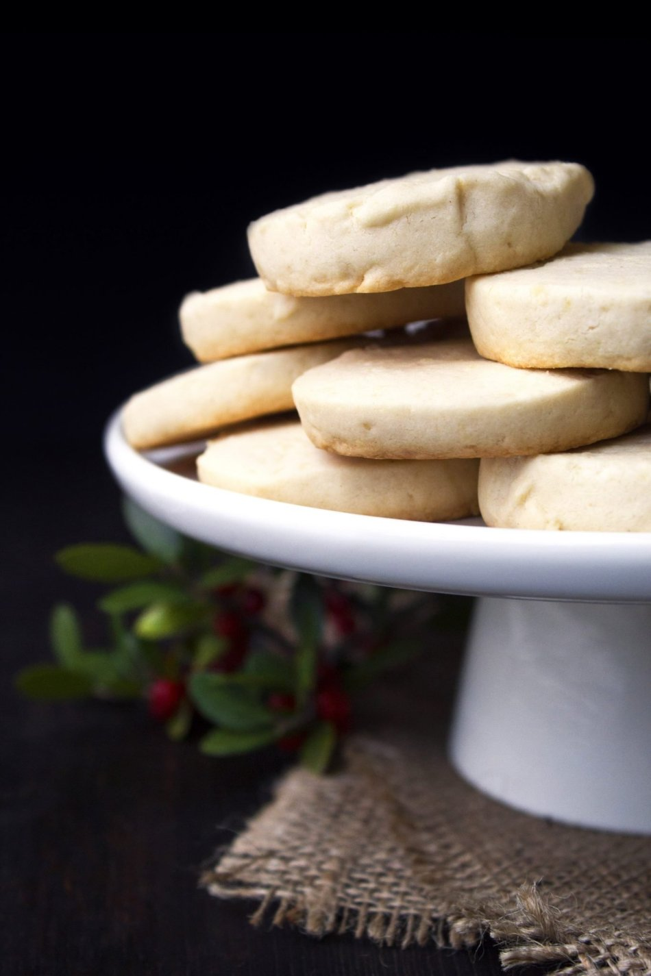 Shortbread Cookies | Gluten and refined sugar free. Includes vegan substitutions.