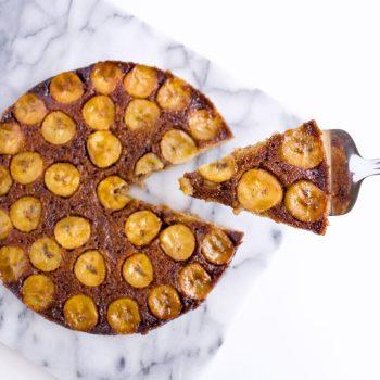 Banana-Upside-Down-Cake-Cut-Cake