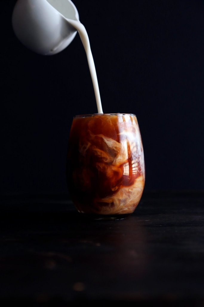 Coconut Iced Tea Pour Milk