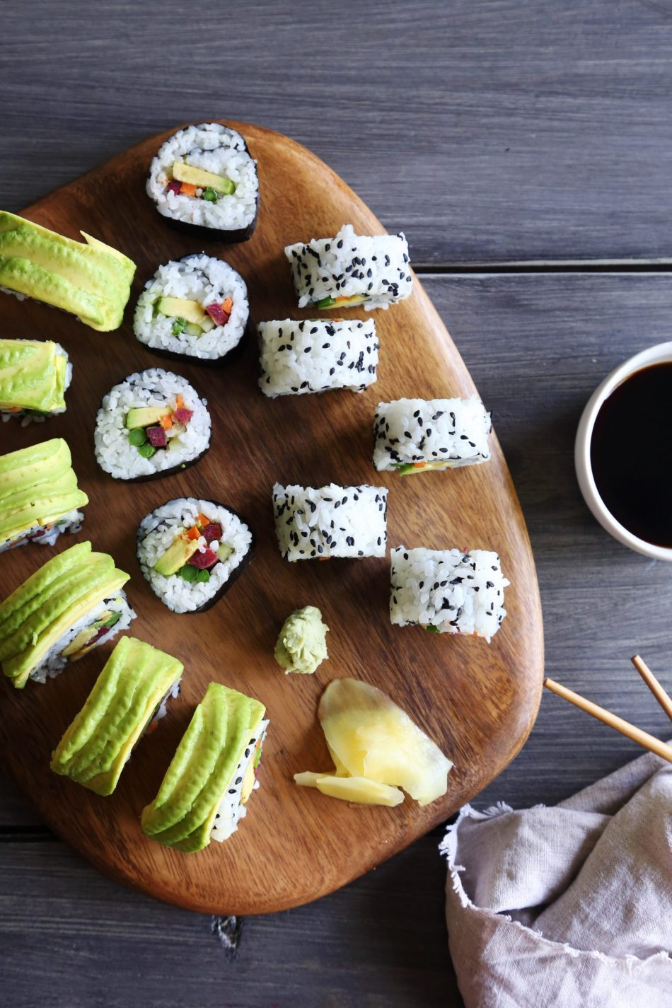 Homemade Veggie Sushi - Wife Mama Foodie