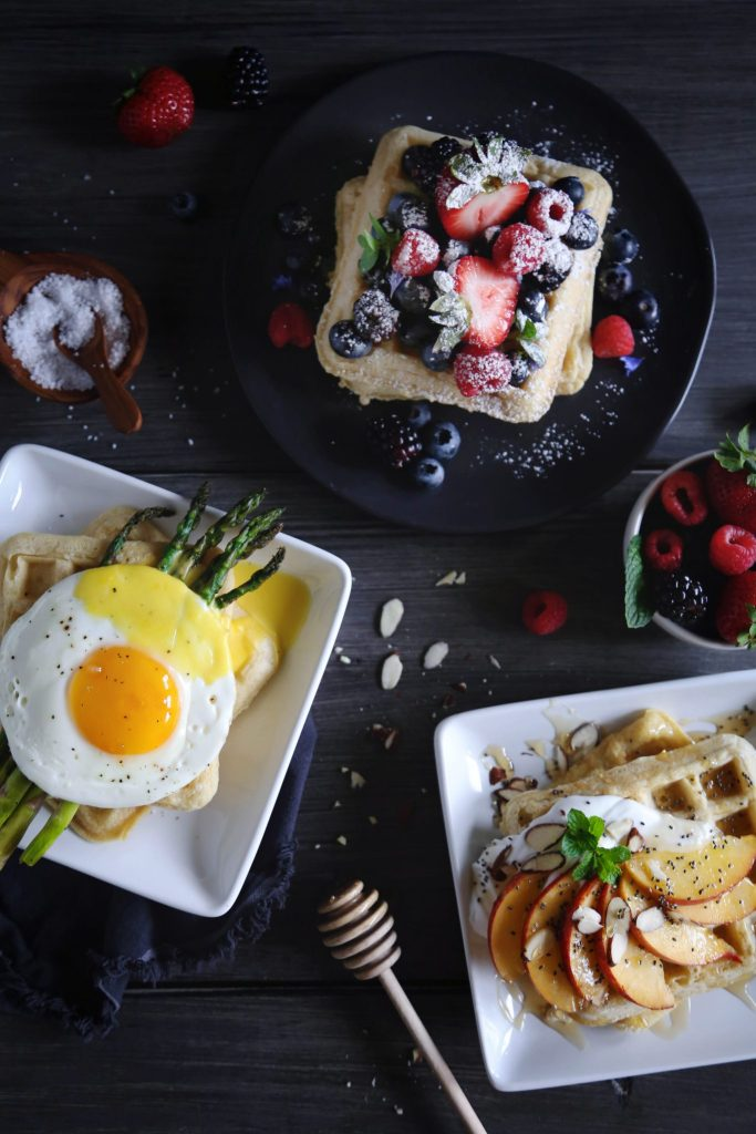 Sweet or Savory Waffles   Free of gluten, dairy, a…
