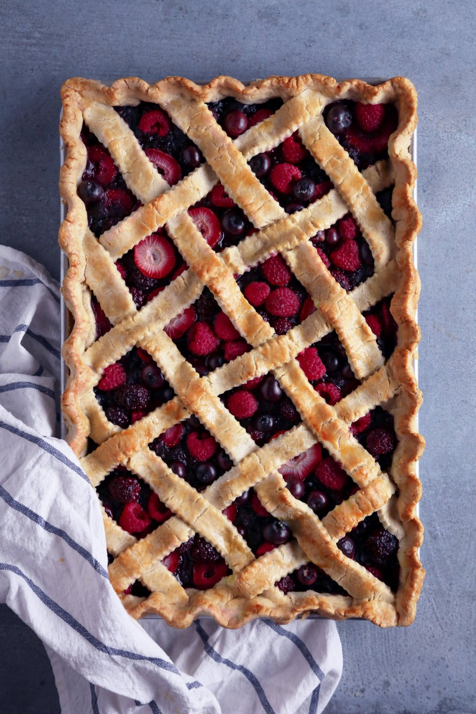 Mixed Berry Slab Pie | Gluten and Dairy Free