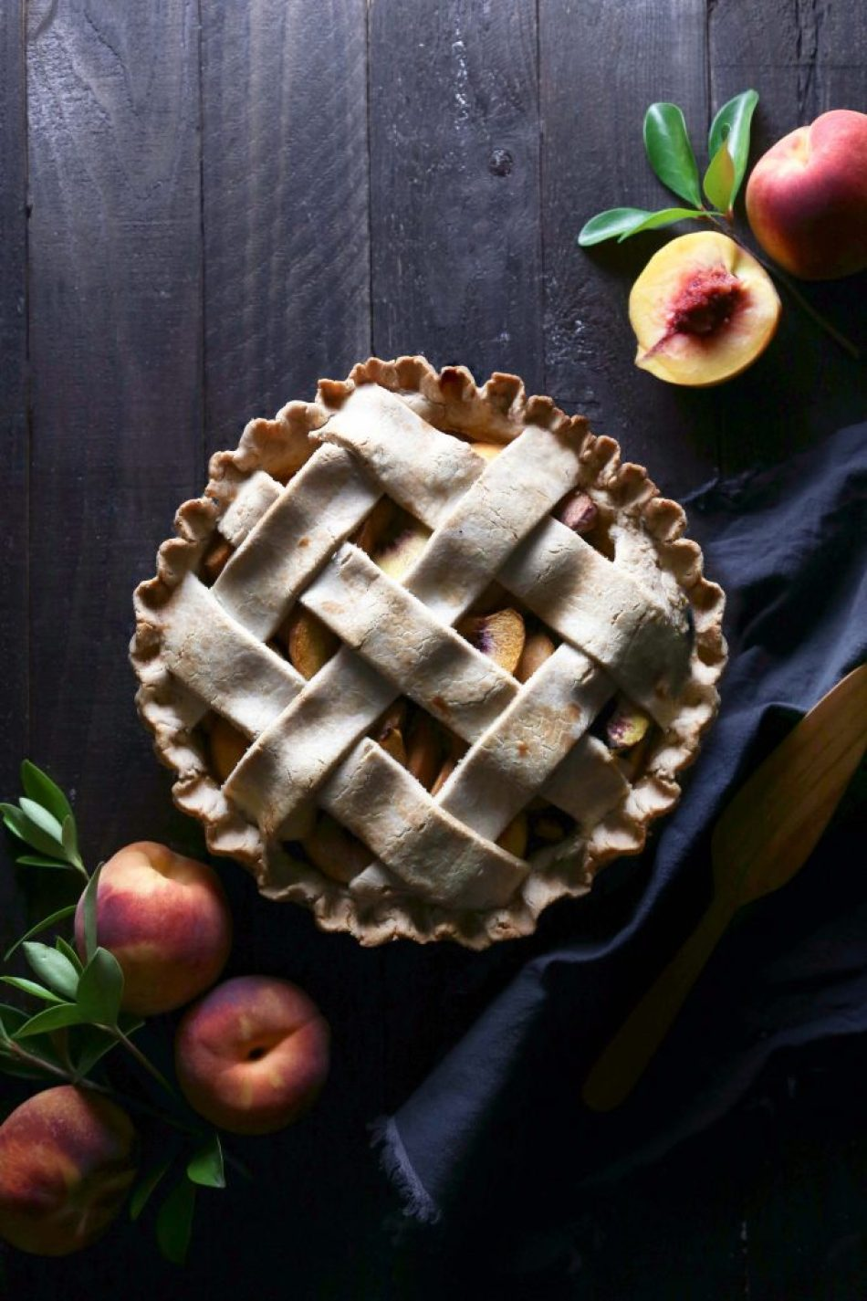 Simple Peach Pie {gluten, dairy, & refined sugar free}