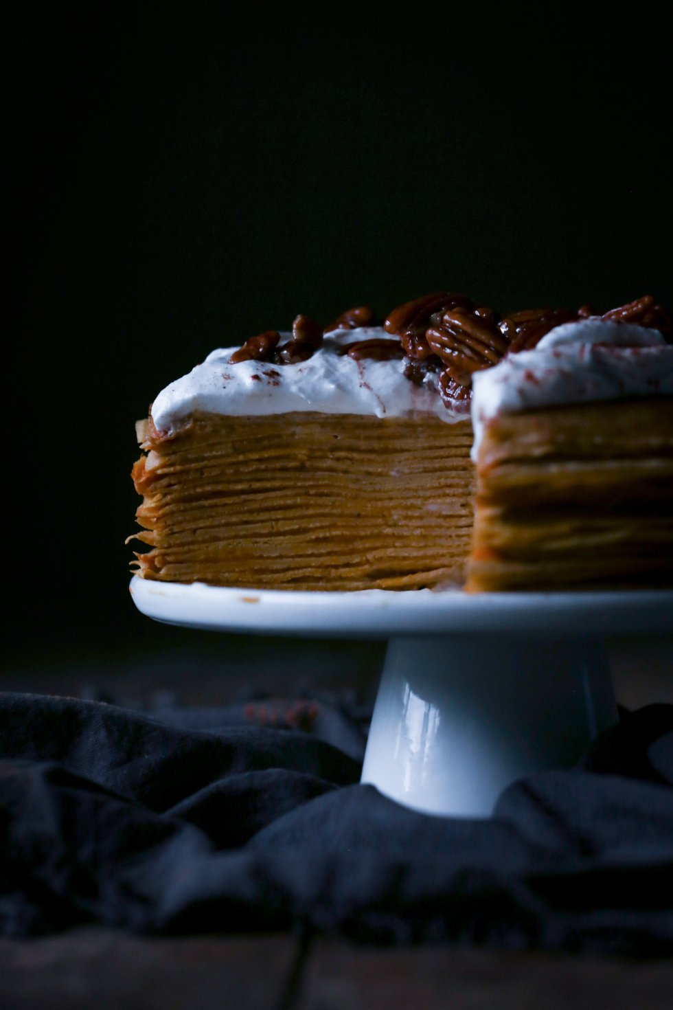 Pumpkin Crepe Cake | Dairy and Refined Sugar Free with Gluten-Free Alternative | Wife Mama Foodie