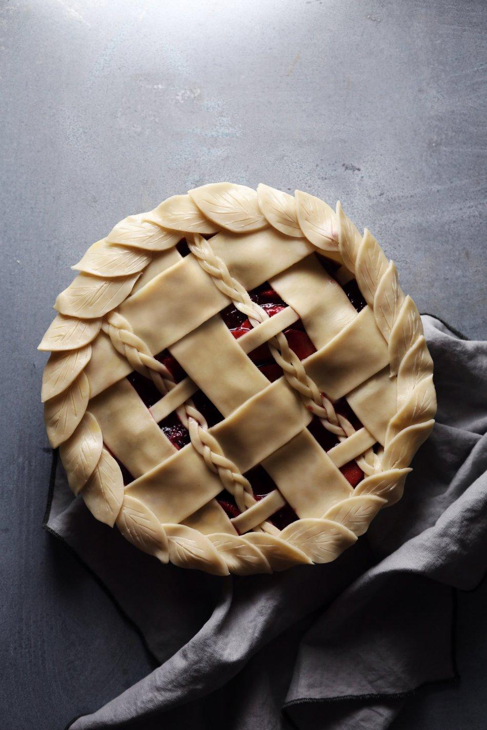 Apple-Blackberry Pie with Braided Lattice Crust | Refined Sugar Free. Dairy + Gluten Alternatives Included.