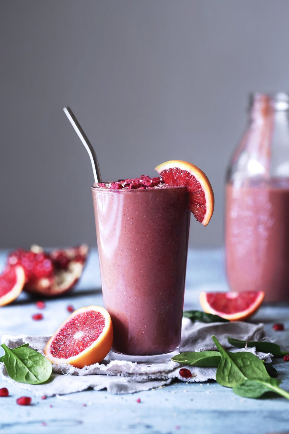 Blood Orange Berry Smoothie - Wife Mama Foodie