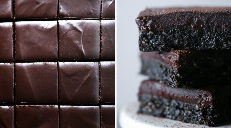 Fudgy No-Bake Brownies | Free of grains, gluten, dairy, and refined sugar