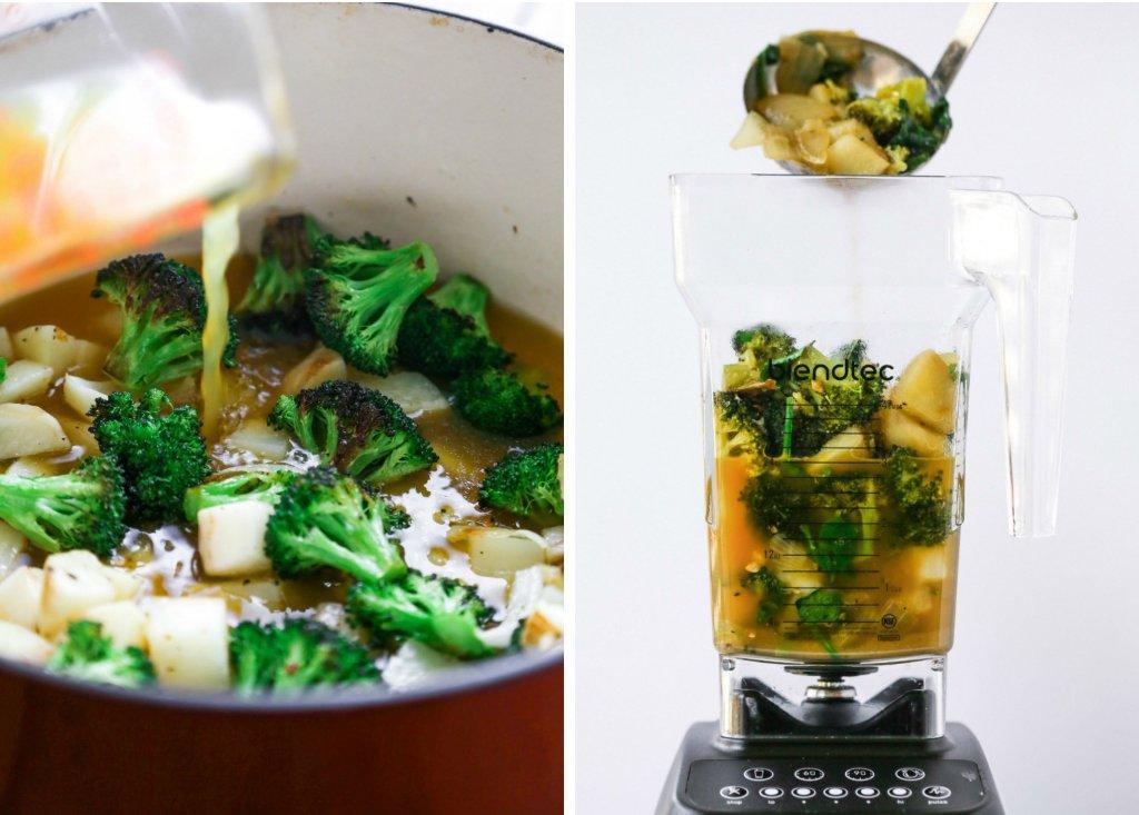 Creamed Broccoli & Spinach Soup | Free of gluten, grains, & dairy | Vegan & Paleo Friendly