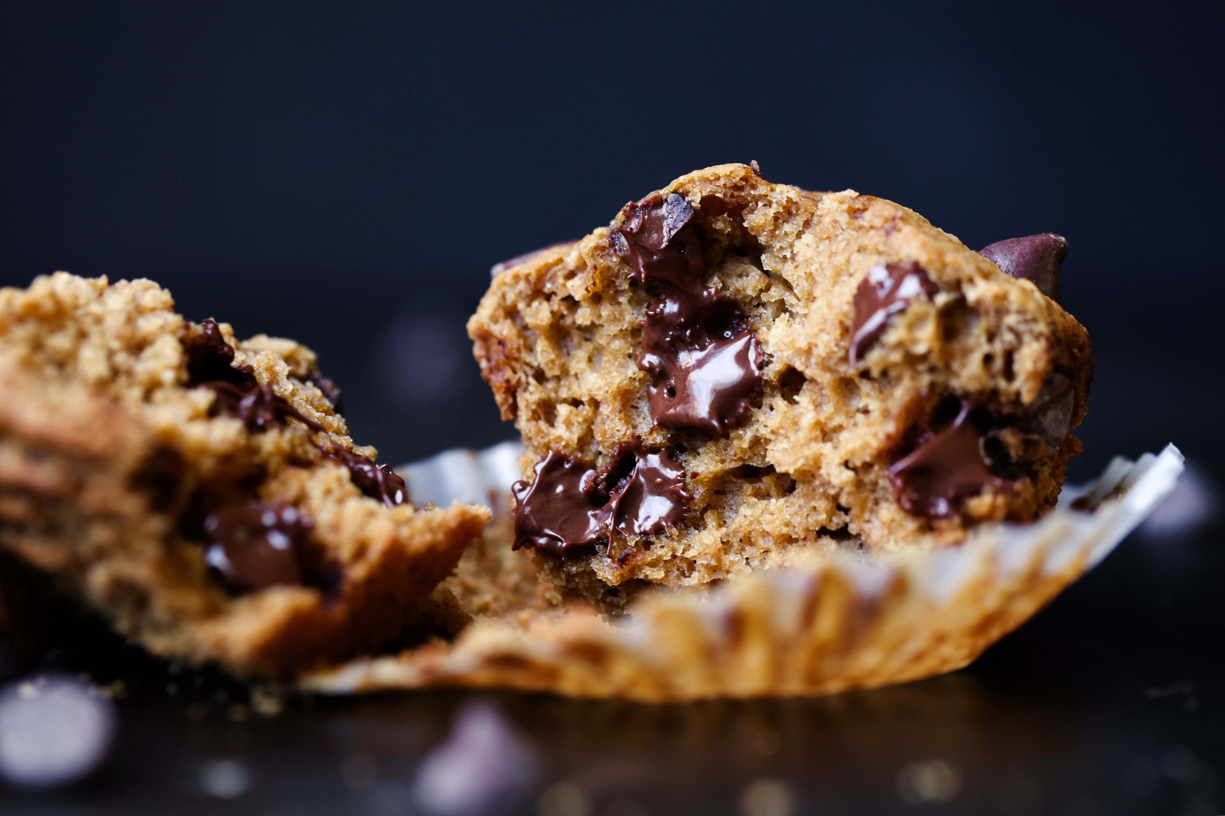 Dairy and egg free chocolate chip muffins