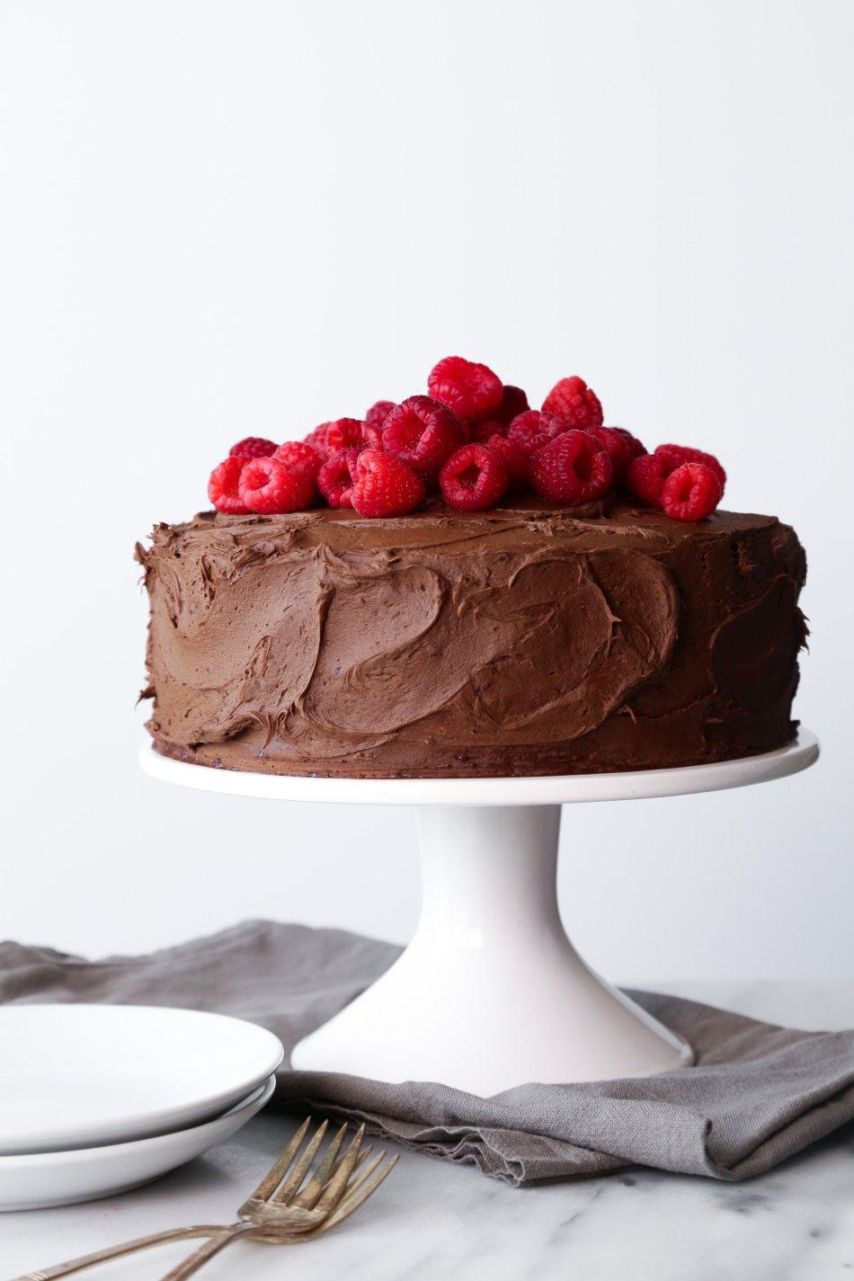 Chocolate Raspberry Layer CakeChocolate-Raspberry Layer Cake   Gluten & Dairy Free. Vegan Friendly.