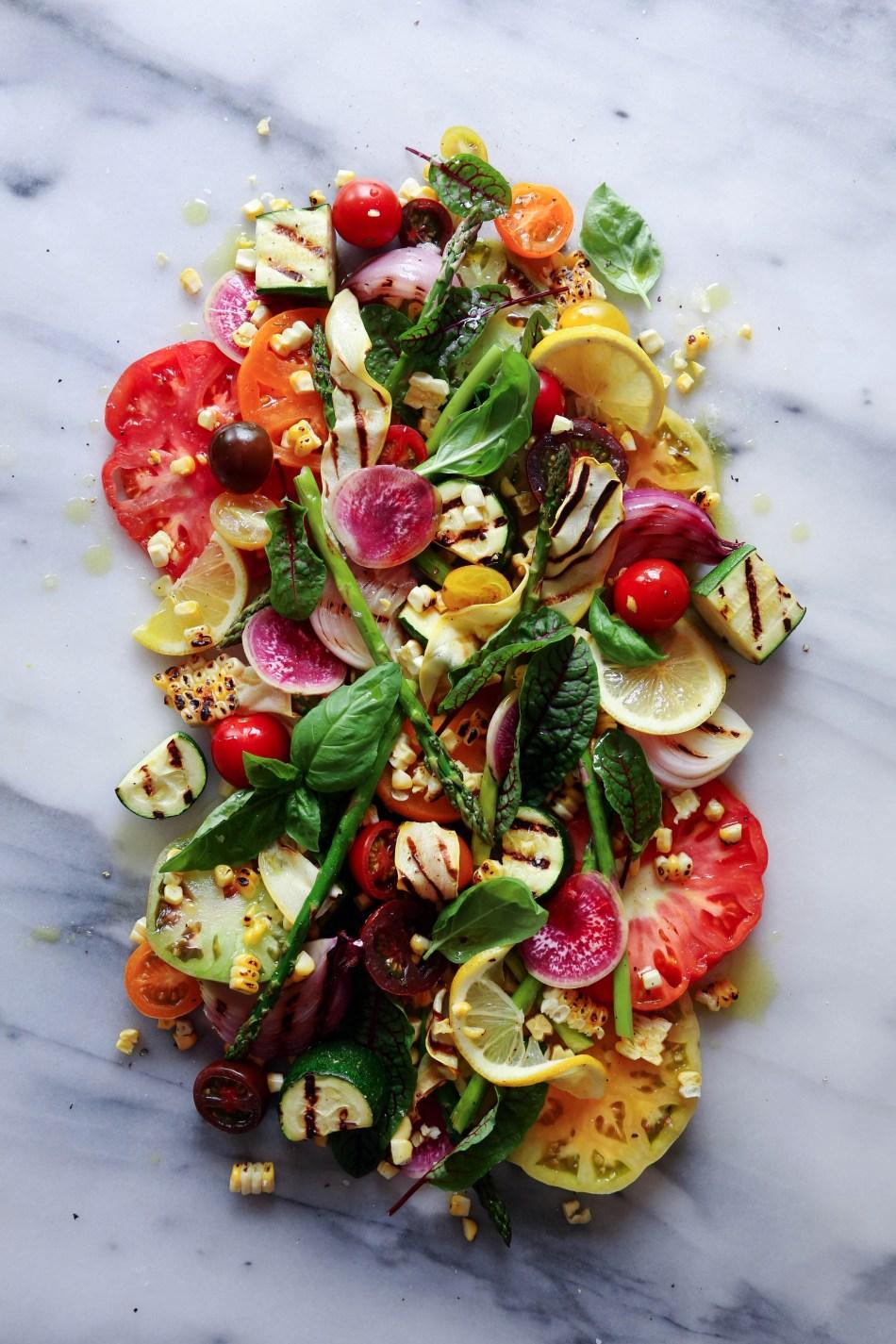 Heirloom Tomato Grilled Veggie Salad | Wife Mama Foodie