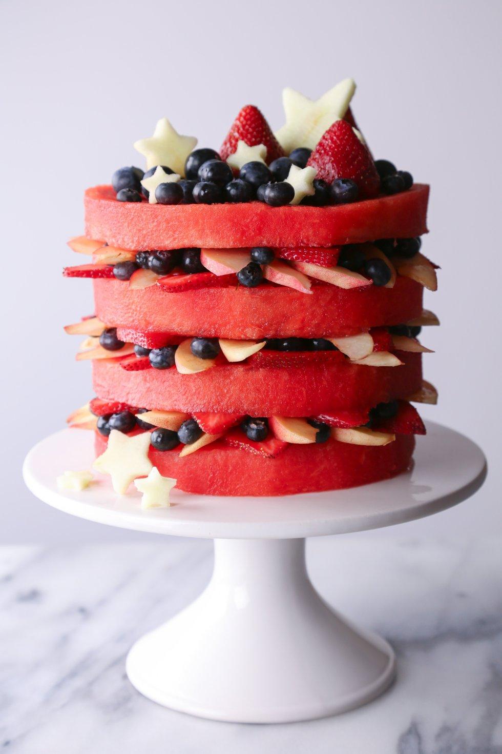 Fresh Watermelon Layer Cake | Wife Mama Foodie