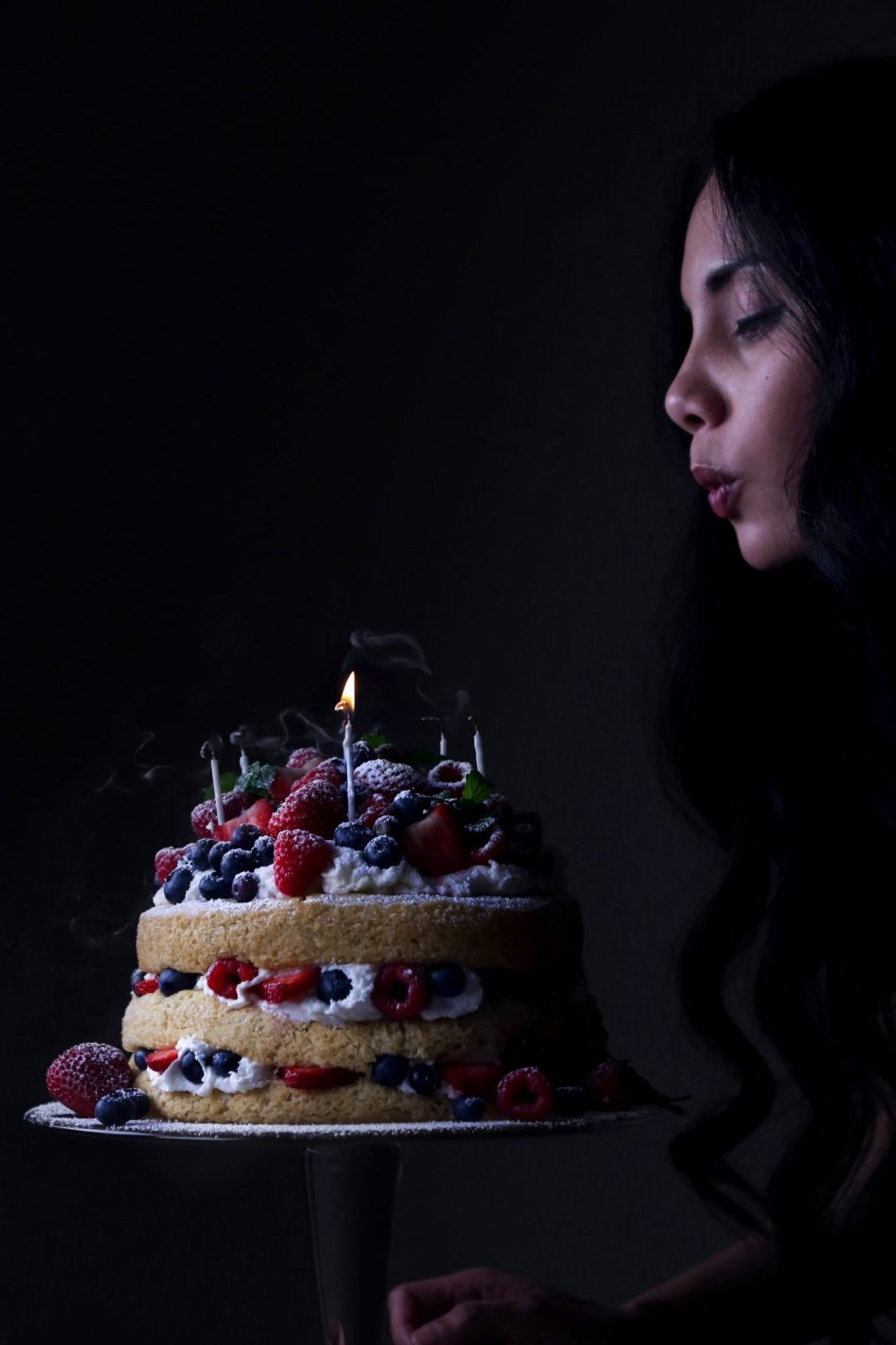 Vanilla Layer Cake with Fresh Berries | Vegan friendly with a gluten free option.