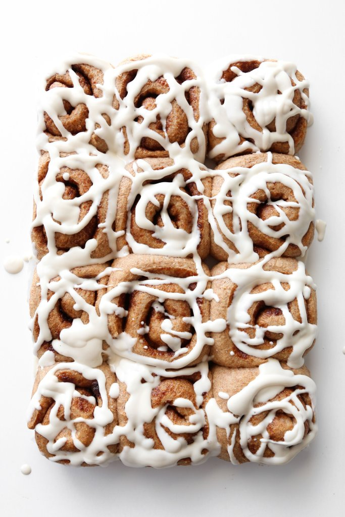 Vegan Spelt Cinnamon Rolls | Made with healthier ingredients. Can also substitute whole wheat or all-purpose flour.
