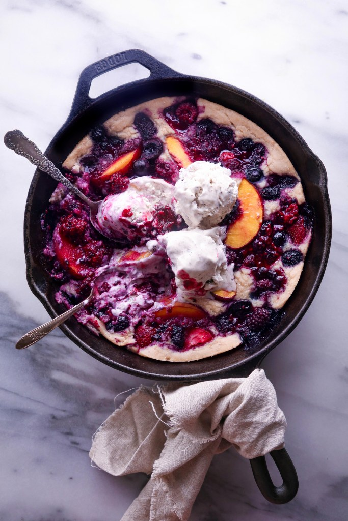 Easy Fruit Cobbler | Vegan friendly and free of dairy, eggs, and refined sugar, with a gluten-free alternative!