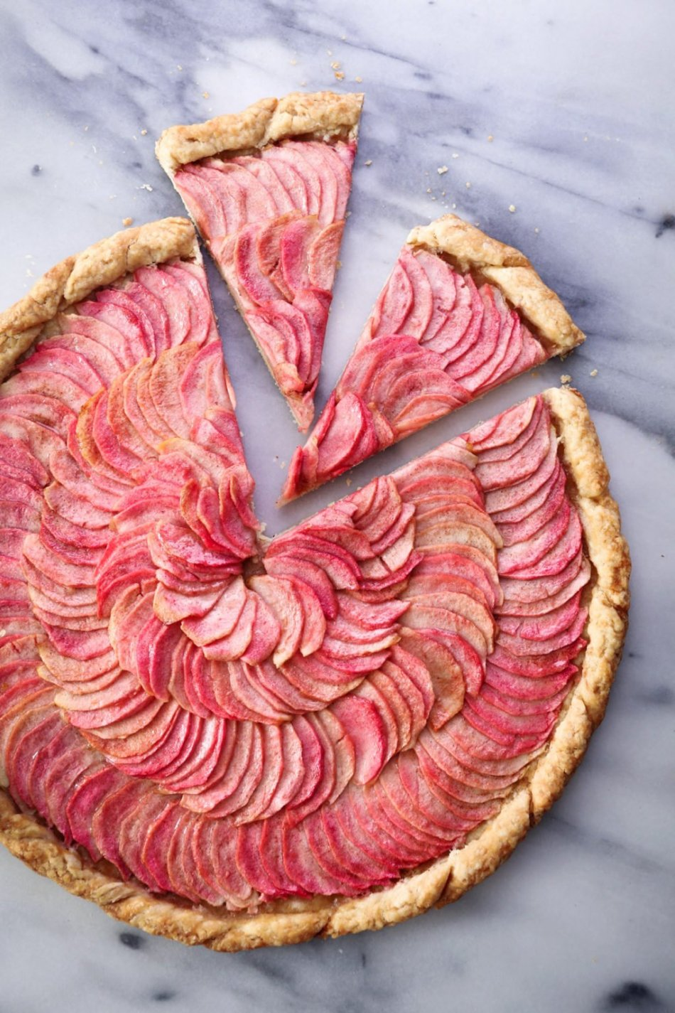 Simple Apple Galette | Vegan friendly and refined sugar free with gluten-free option.