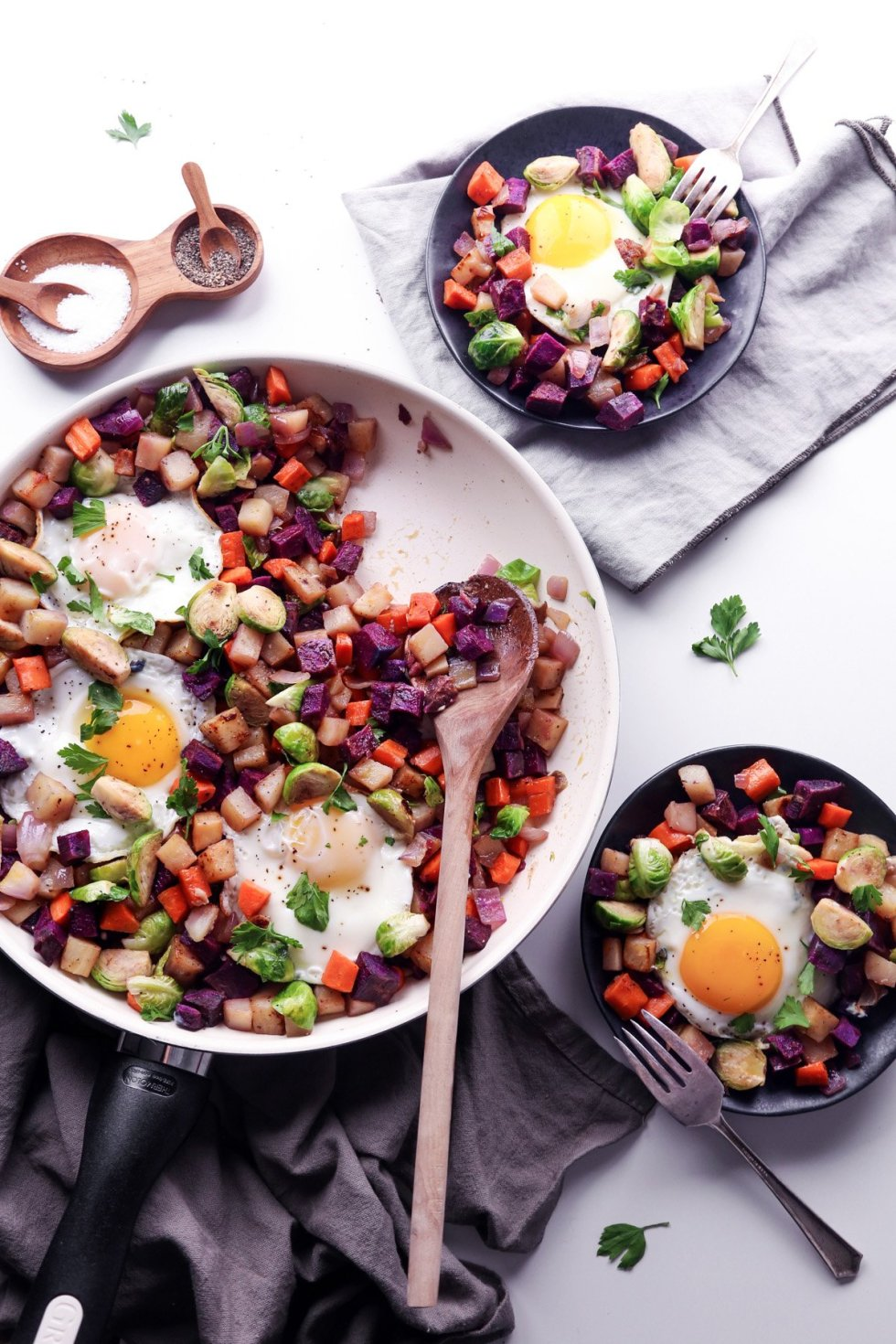 Brussels Sprouts & Root Vegetable Hash—Grain, Gluten, & Dairy Free | Wife Mama Foodie