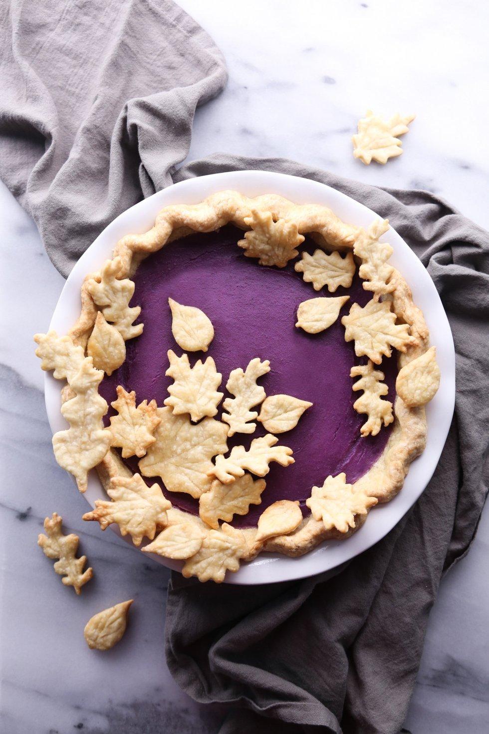 Vegan Sweet Potato Pie with Purple Sweet Potatoes | Wife Mama Foodie