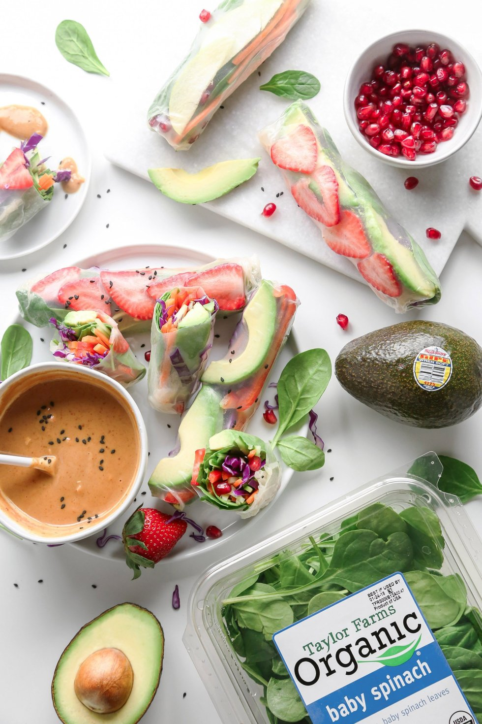 Vegan Lettuce Wraps and Avocado Spring Rolls with Peanut Sauce   Wife Mama Foodie