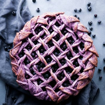 Blueberry Pie with Purple Berry Crust