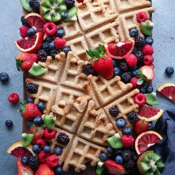 Simple Spelt Waffles