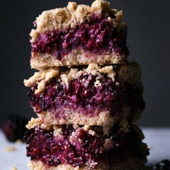 Blackberry Oat Bars