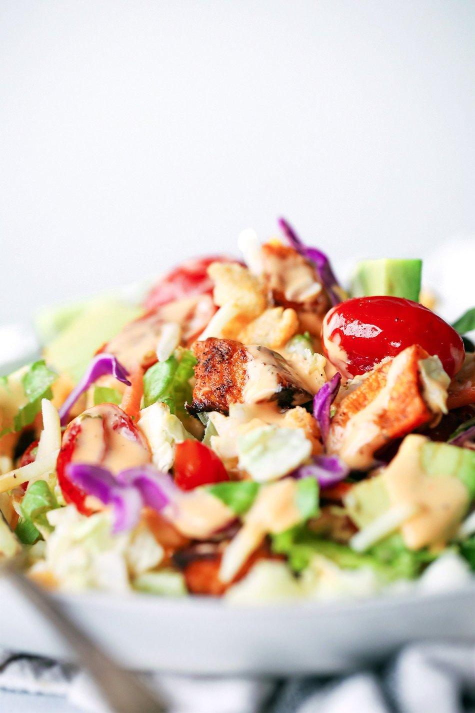 Roasted Sweet Potato Sheet Pan Salad | Healthy and Hearty | Wife Mama Foodie