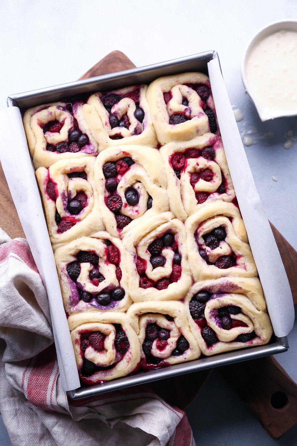 Triple Berry Sweet Rolls | Vegan and refined sugar free