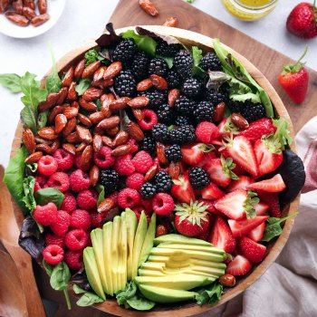 Mixed Berry and Avocado Salad with Poppyseed Dressing