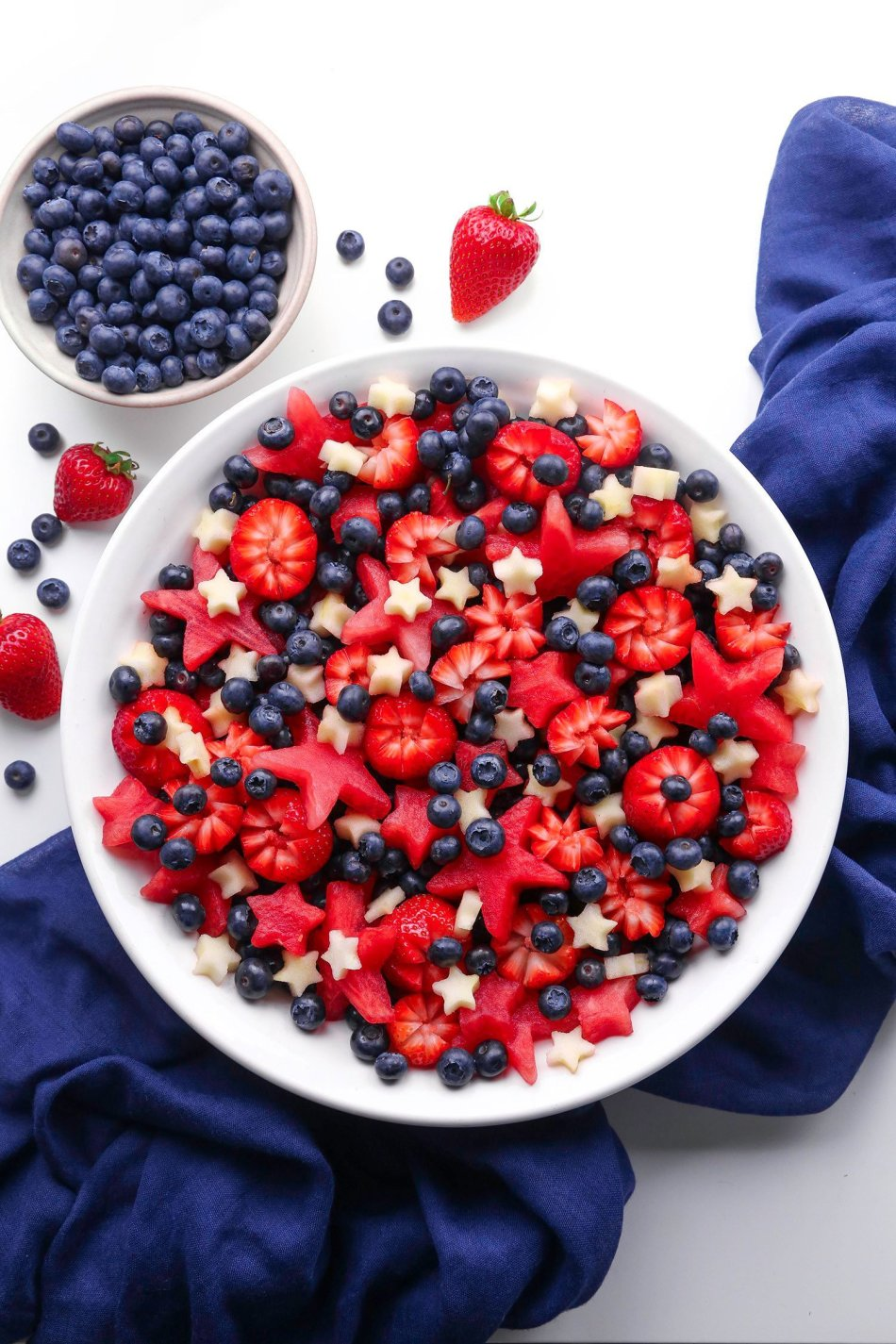 Red, White, and Blue Fruit Salad | Wife Mama Foodie