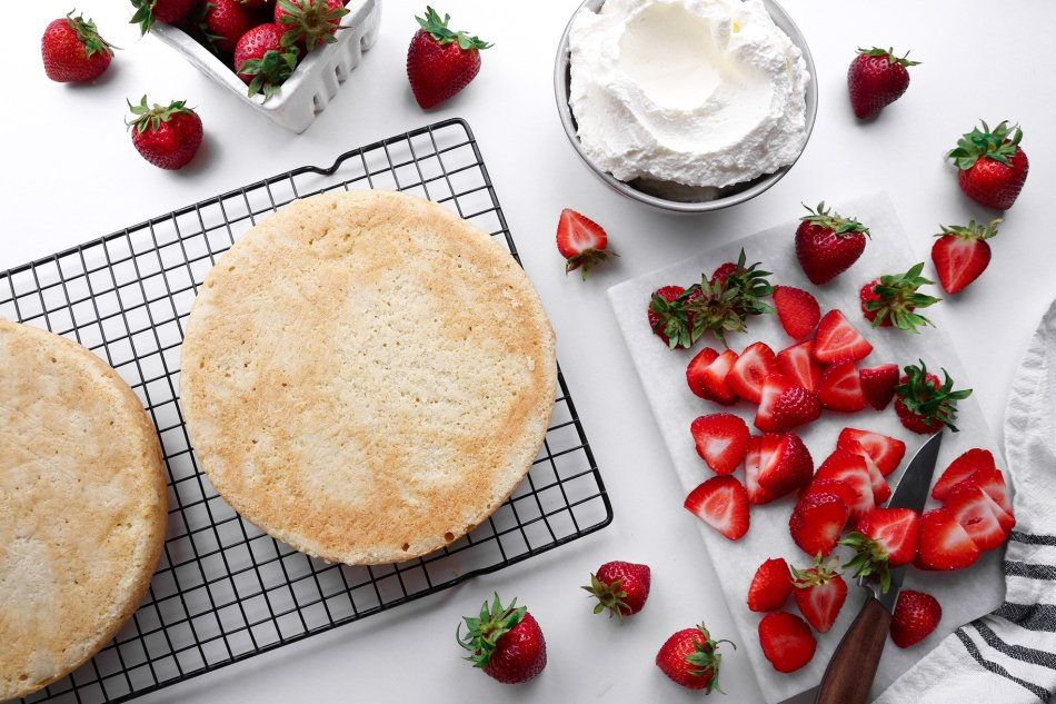 Strawberry Shortcake Cake   Vegan friendly with gluten-free option