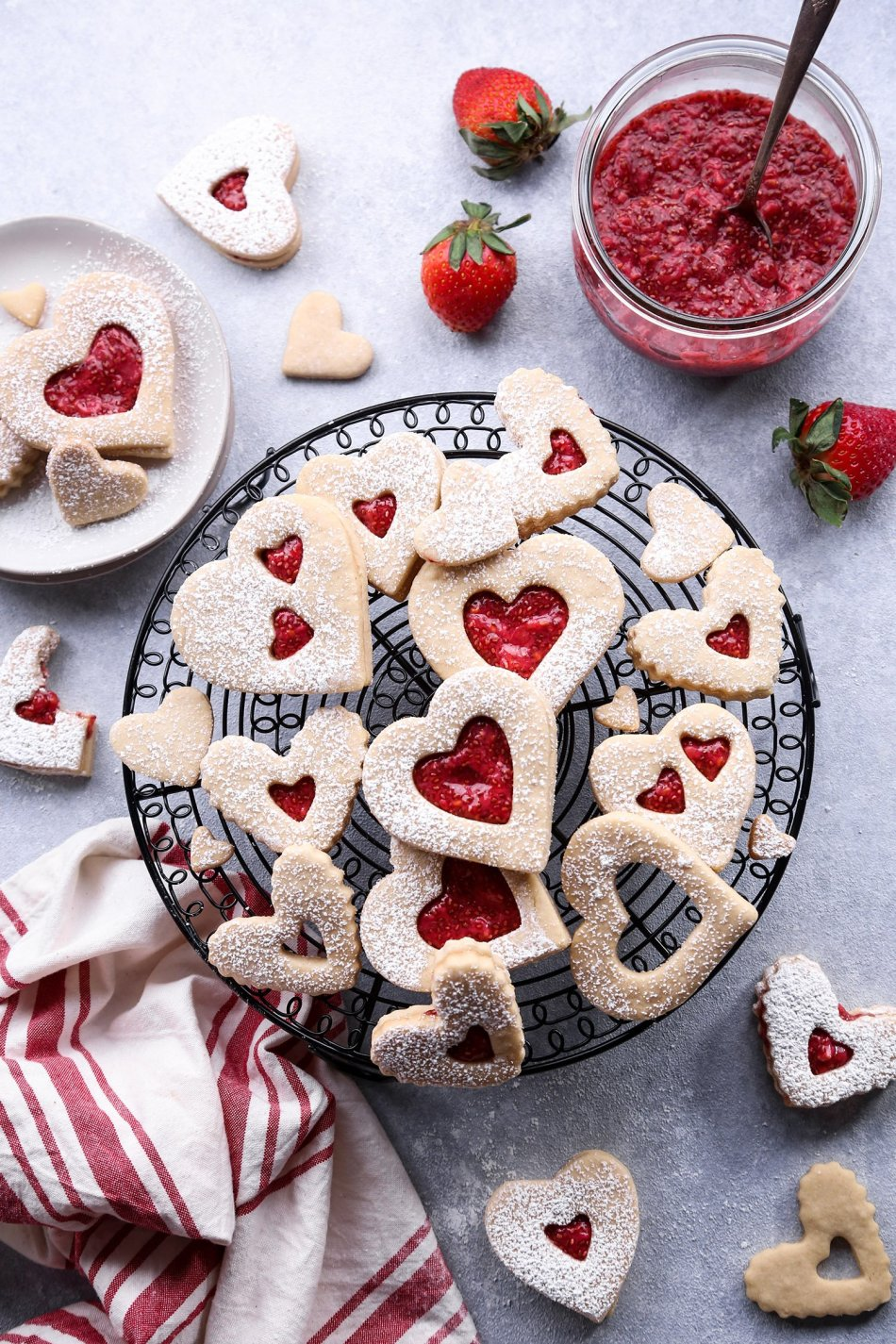Linzer Cookies with Berry Chia Jam | Gluten, Dairy, and Refined Sugar Free/Vegan Friendly