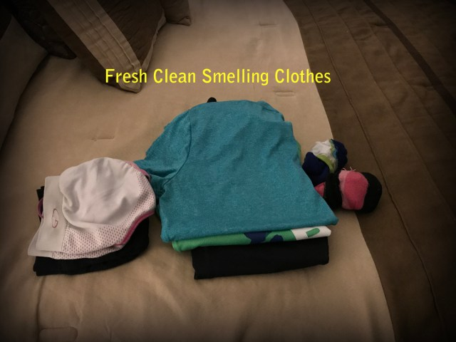 Clothes after being washed with Fresh Wave Laundry Booster