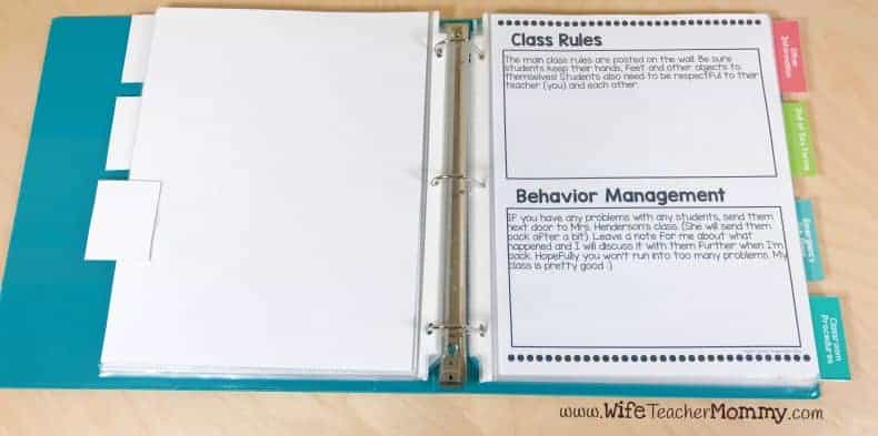 Rules and behavior management