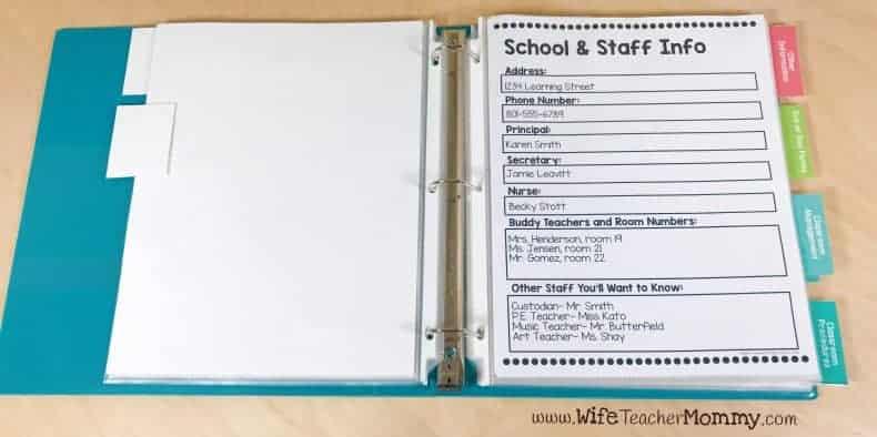 School & staff info