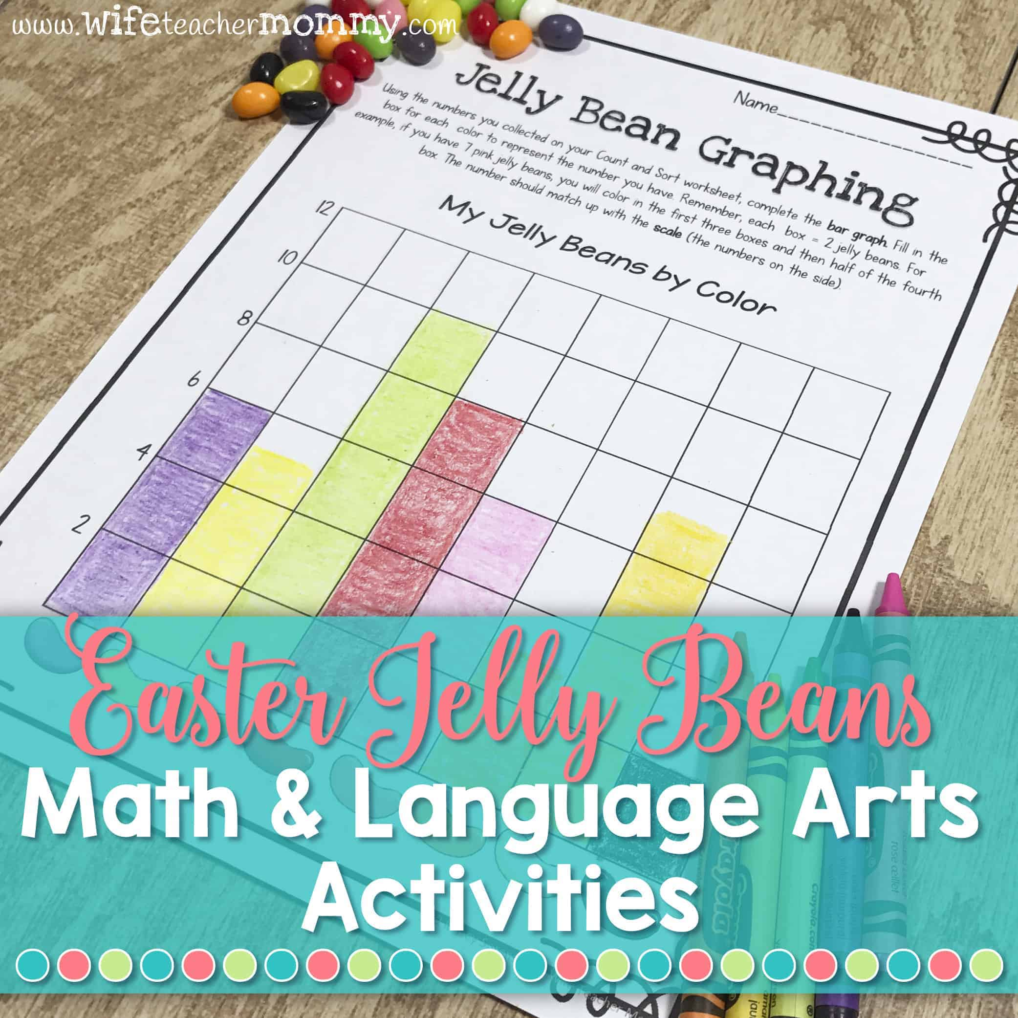 Math & Language Arts with jelly beans is perfect for Easter in the classroom!