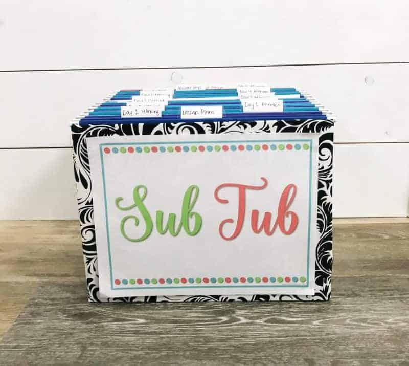 Sub tub label freebie