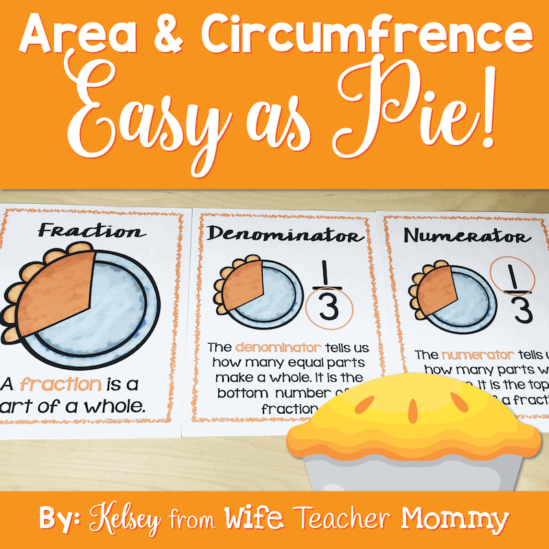 Area and Circumference are Easy as Pie Worksheets
