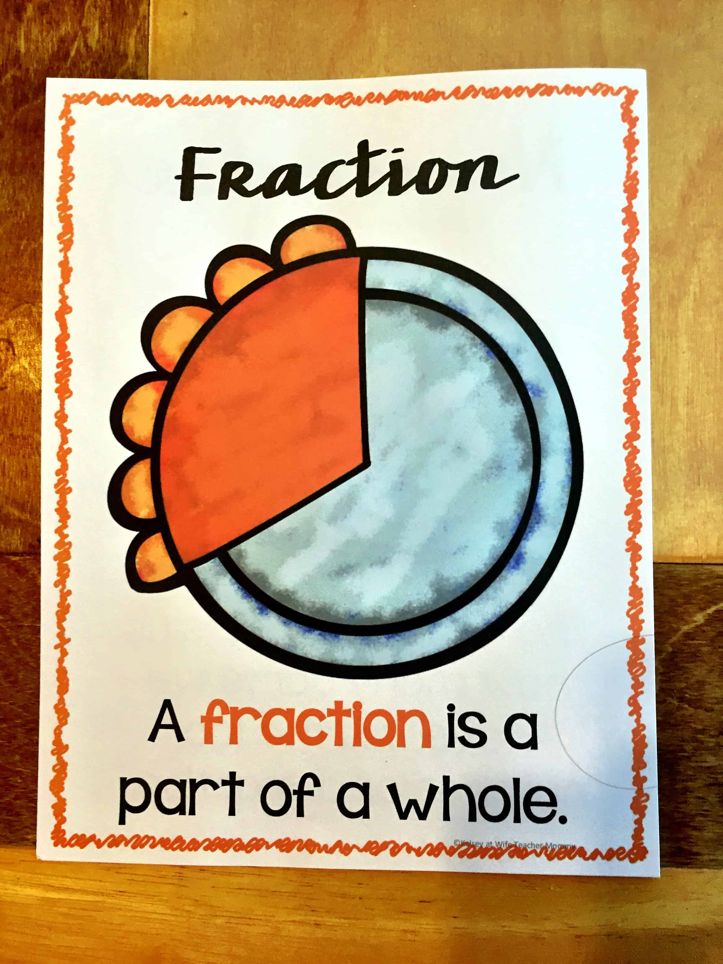 Fractions Are Easy As Pie Worksheets