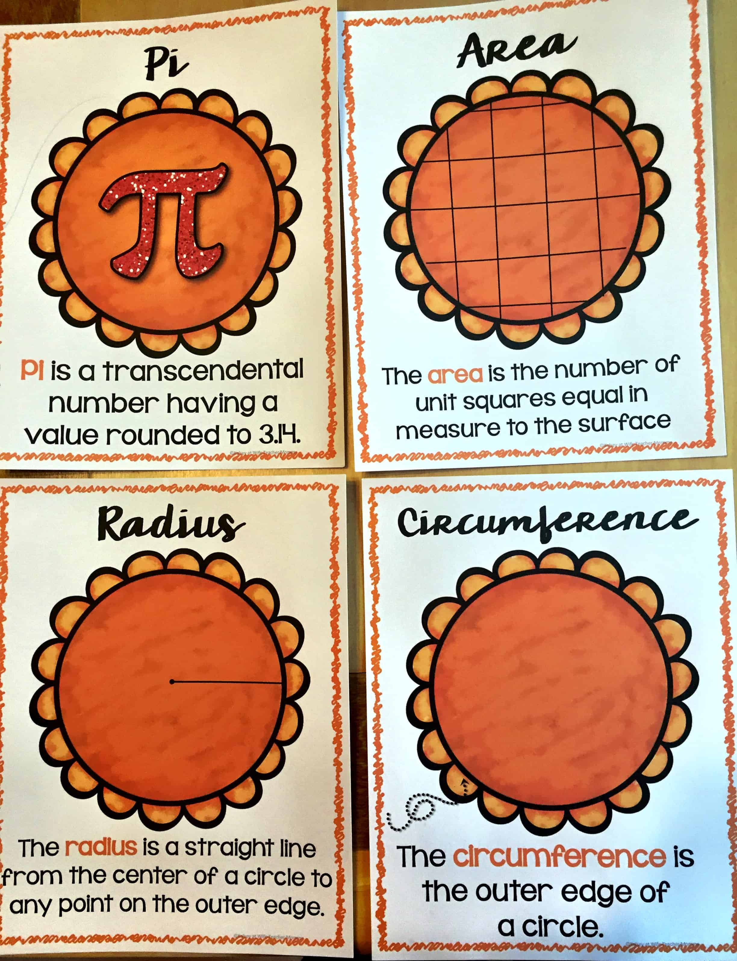 Area Amp Circumference Are Easy As Pie Worksheets